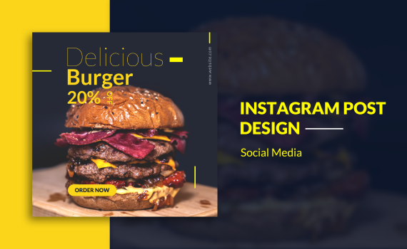 How To: Design Instagram Post for Delicious Burger with Photoshop
