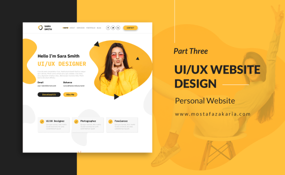 How To: Design UI/UX for Personal Website with Figma - Part 3
