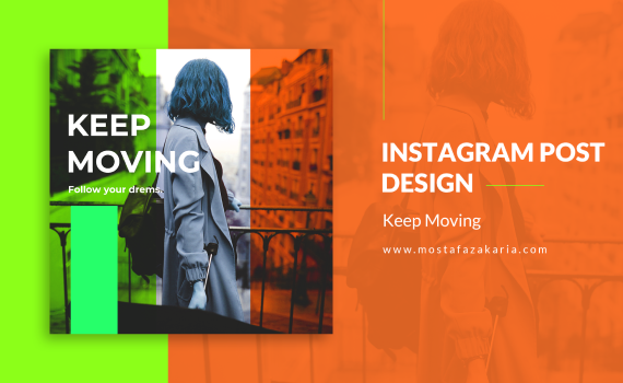 How To: Design Instagram Post for Keep Moving Quote with Photoshop