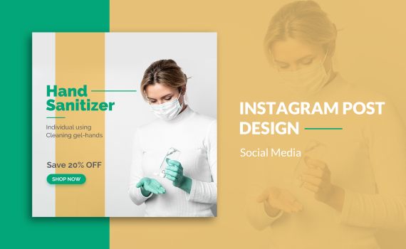 How To: Design Instagram Post for Hand Sanitizer with Photoshop