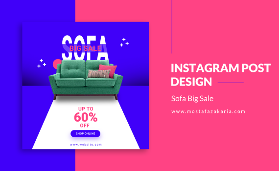 How To: Design Instagram Post for Sofa Big Sale with Photoshop