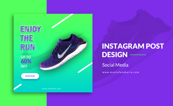 How To: Design Instagram Post for Nike Shoe with Photoshop