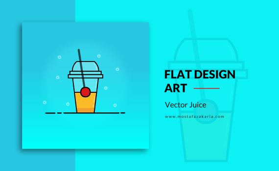 How To: Design juice cup using flat design with illustrator