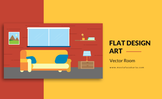 How To: Design living room using flat design with illustrator