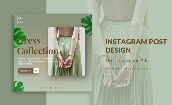 How To: Design Instagram Post for Dress Collection with Photoshop