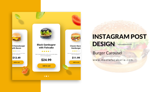 How To: Design Instagram Post for Burger Carousel with Photoshop