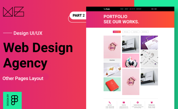 How To: Design a website for Web Design Agency from scratch with Figma - Part 2 [ Other Pages ]